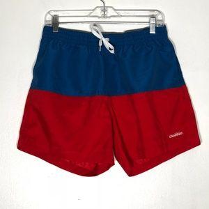 fdf808411c Chubbies Swim Trunks Shorts Mens Large Red Blue